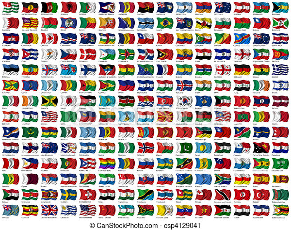 Mondo Set Bandiere Ritaglio Proprio Nome 210 Mondo Paese