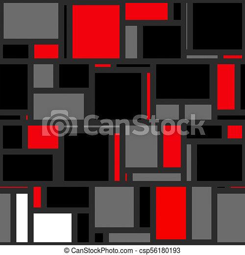 Mondrian Abstract Background Pattern - csp56180193