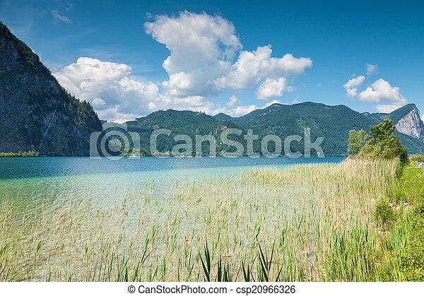 Mondsee lake in Austria - csp20966326
