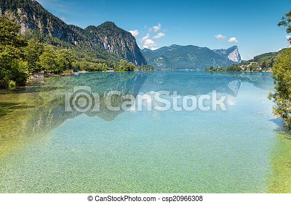 Mondsee lake in Austria - csp20966308