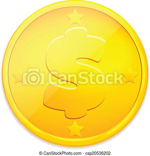 Moneda de oro Vector - csp20536202