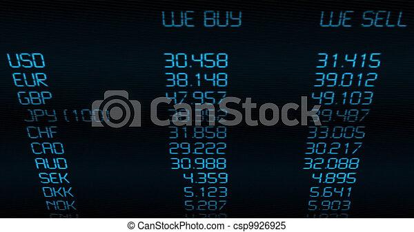 Ritmo de cambio de moneda - csp9926925