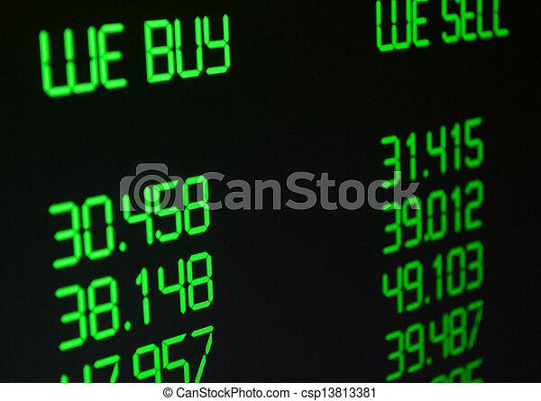 Ritmo de cambio de moneda - csp13813381