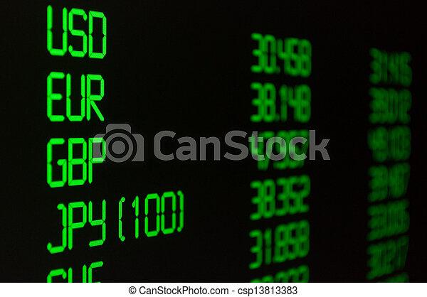 Ritmo de cambio de moneda - csp13813383