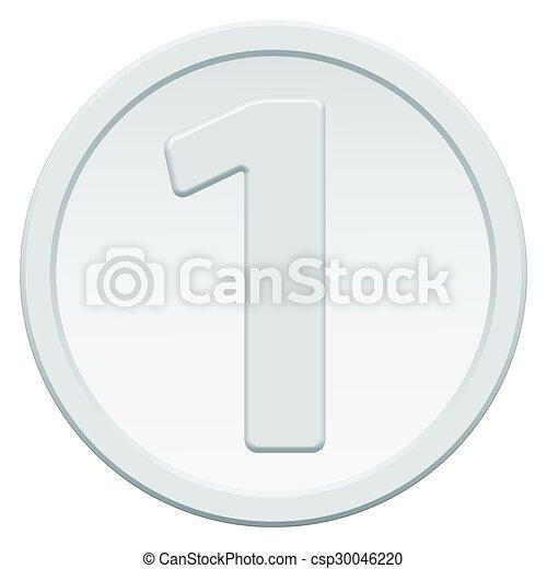 Una moneda - csp30046220