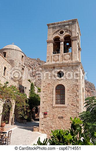 Monemvasia at the Greek Peloponnese - csp6714551