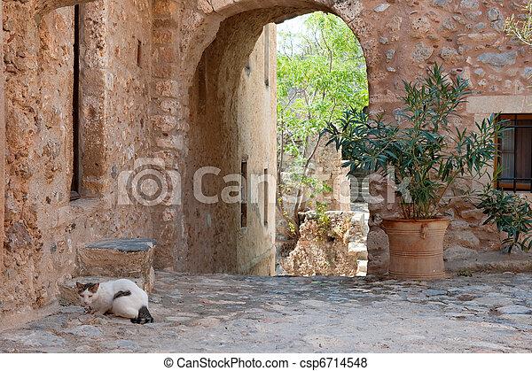 Monemvasia at the Greek Peloponnese - csp6714548