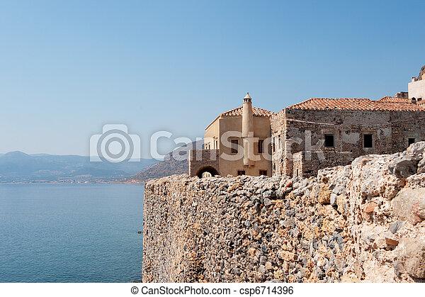 Monemvasia at the Greek Peloponnese - csp6714396