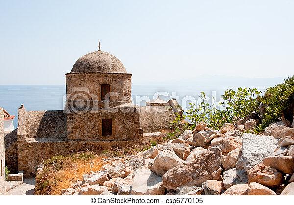 Monemvasia at the Greek Peloponnese - csp6770105