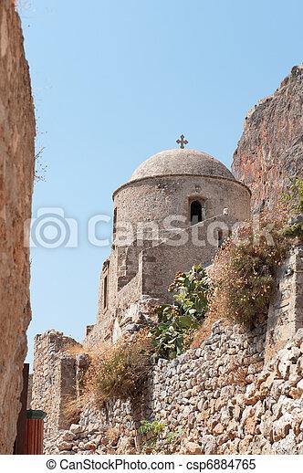 Monemvasia at the Greek Peloponnese - csp6884765