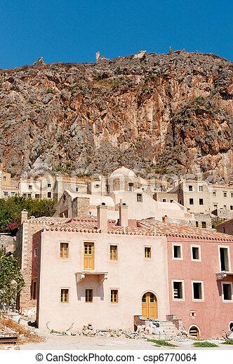 Monemvasia at the Greek Peloponnese - csp6770064