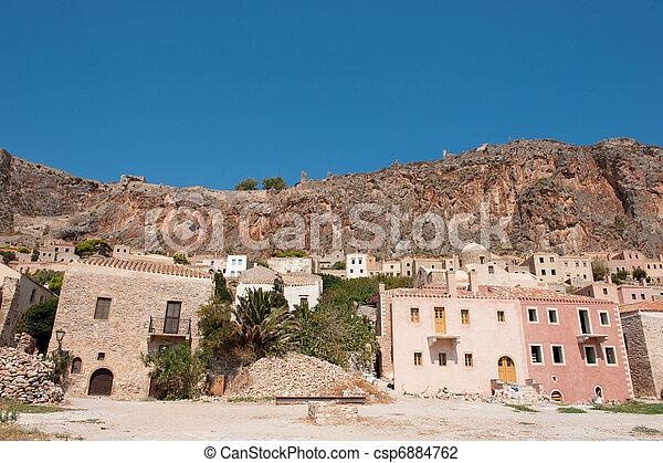 Monemvasia at the Greek Peloponnese - csp6884762