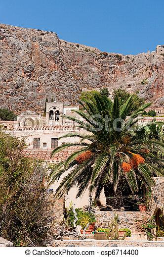 Monemvasia at the Greek Peloponnese - csp6714400