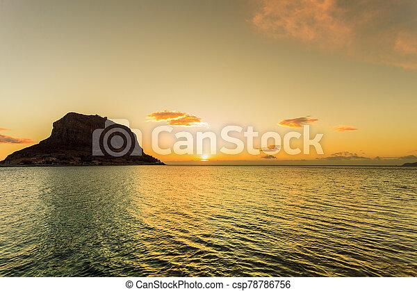 Monemvasia island at morning, Greece - csp78786756