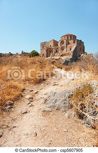 Monemvasia uptown in Greece - csp5607905