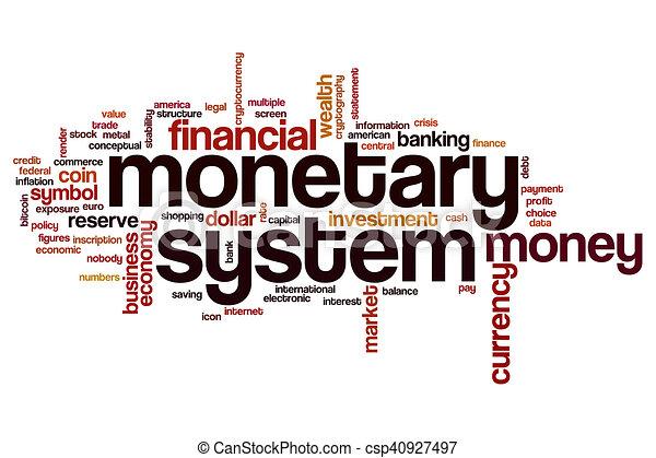 Monetary system word cloud - csp40927497