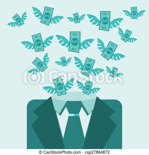 Money abstract vector background illustration - csp27864872