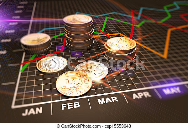 Money and charts - csp15553643