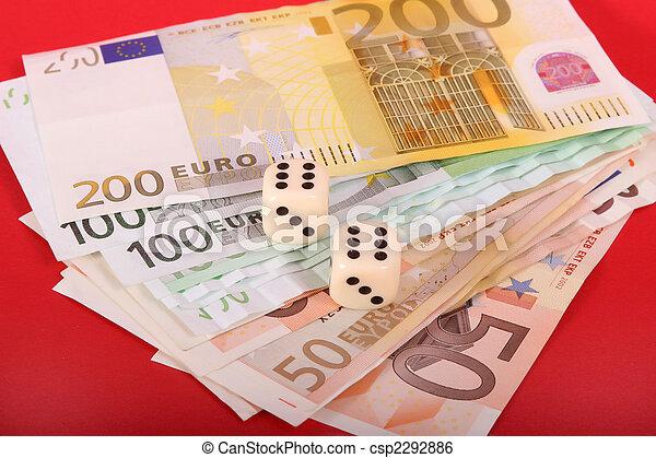 money and dice cubes - csp2292886