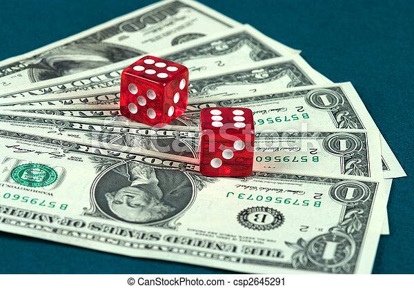 Money and dice. - csp2645291