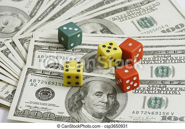 money and dice - csp3650931