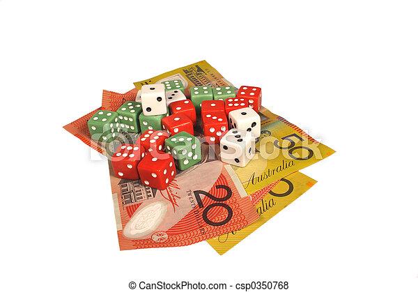 Money and dice - csp0350768