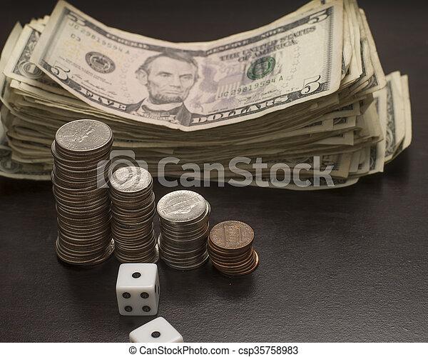 Money and Dice - csp35758983