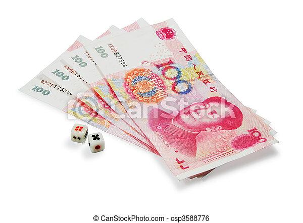Money and dice - csp3588776
