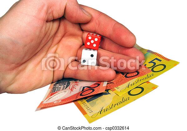 Money and dice - csp0332614
