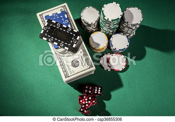 Money and Dice - csp36855306