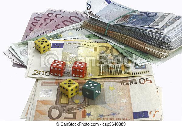 money and dice - csp3640383