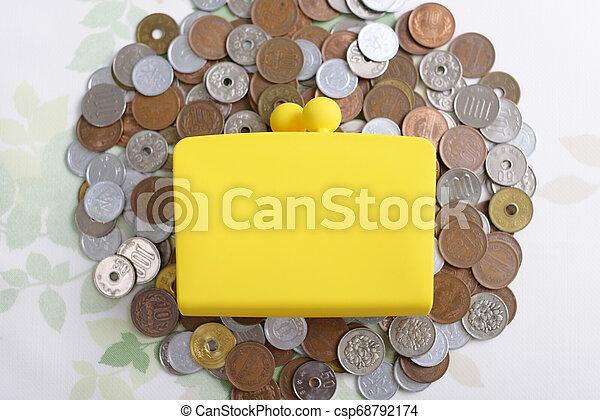 Money and purse - csp68792174