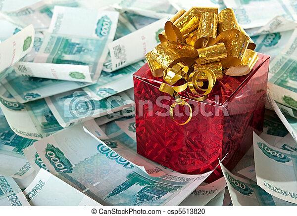 Money as a gift. - csp5513820