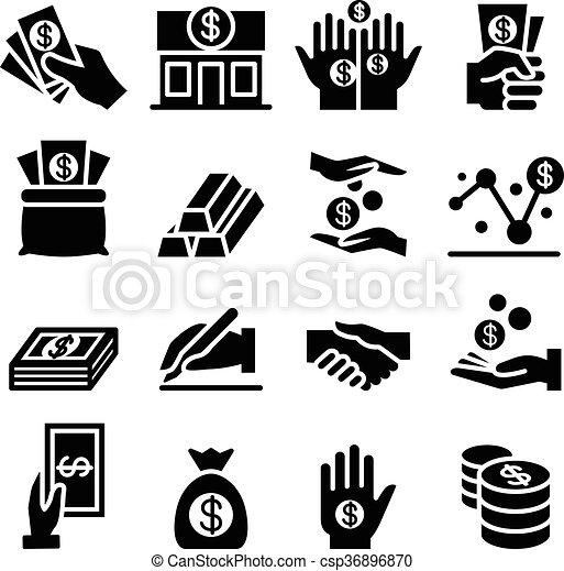 Money & Asset icon - csp36896870