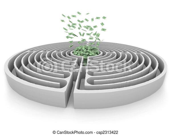 Money at the Center of a Maze - csp2313422