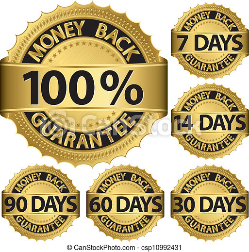 Money back guarantee golden set, ve - csp10992431