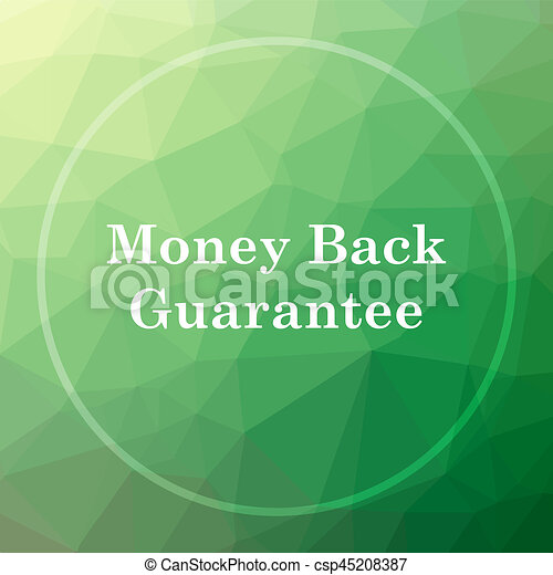 Money back guarantee icon - csp45208387