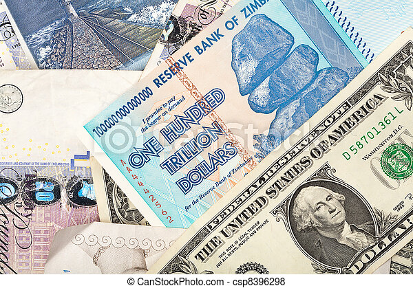 Money Background With Us Dollars British Pounds Lithuanian Litas