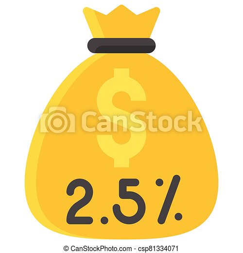 money bag icon islam zakat related vector illustration can stock photo