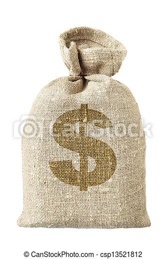 money-bag, simbolo, dollaro - csp13521812