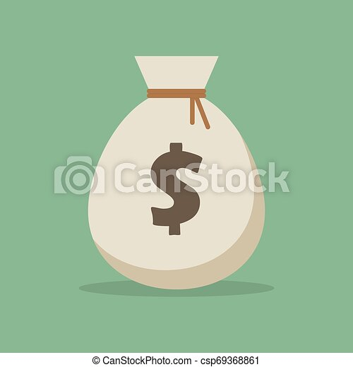 Money bag vector illustration isolated on white background - csp69368861