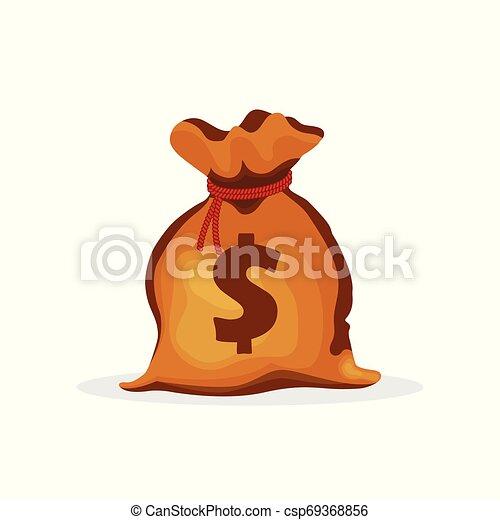 Money bag vector illustration isolated on white background - csp69368856