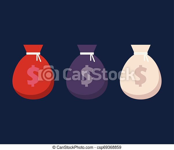 Money bag vector illustration isolated on white background - csp69368859