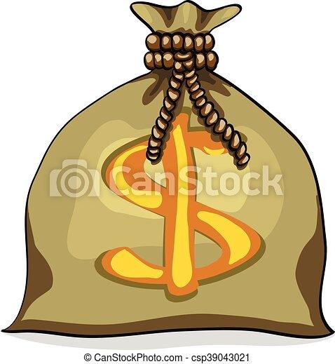 Money bag with dollar - csp39043021