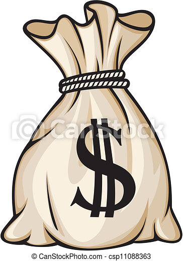 Money bag with dollar sign  - csp11088363