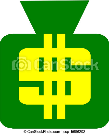 Money bag with dollar sign  - csp15686202