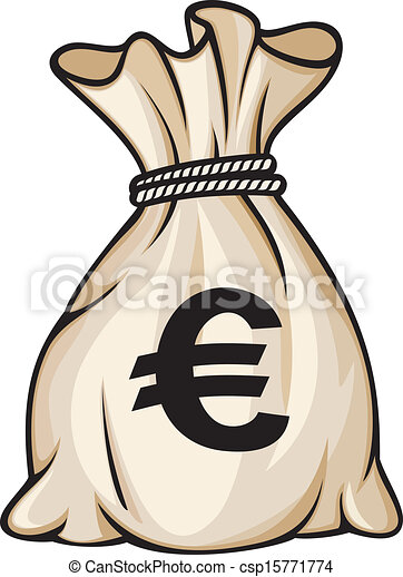Money bag with euro sign - csp15771774