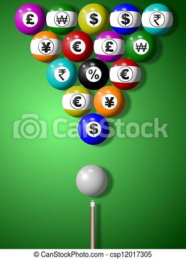 Money billiard game - csp12017305