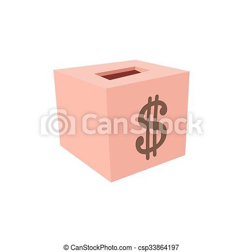 Money box donation cartoon icon - csp33864197