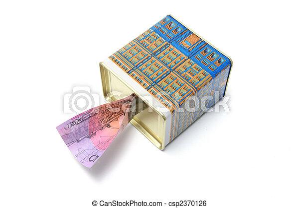 Money Box with Dollar Note - csp2370126